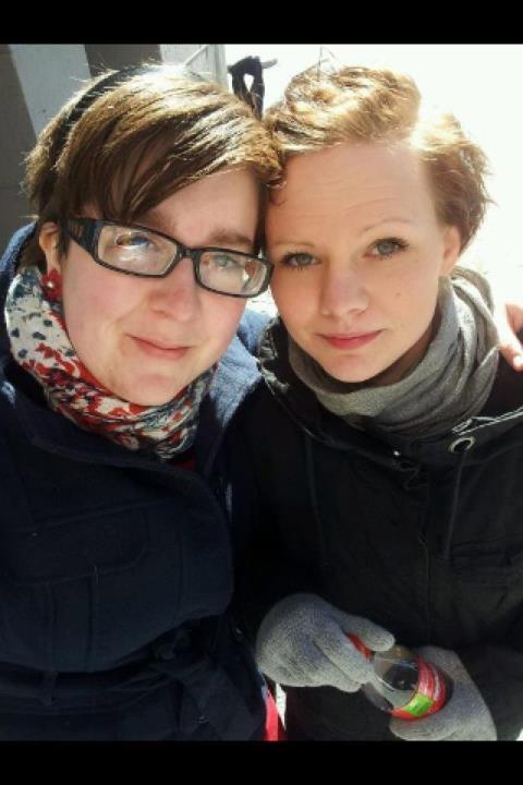 Jag och Zandra, första maj 2012